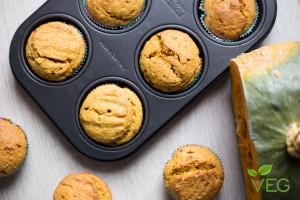 Muffin di zucca vegan