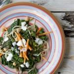 Insalata tiepida di ceci e spinaci