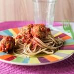 Spaghetti con polpette vegan