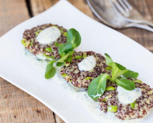 polpette di quinoa e fave