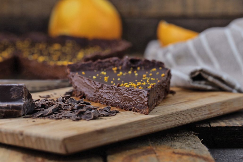 torta al cioccolato e arancia vegan