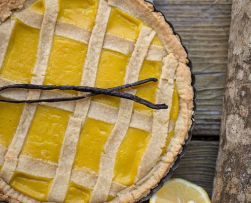 crostata vegana al limone