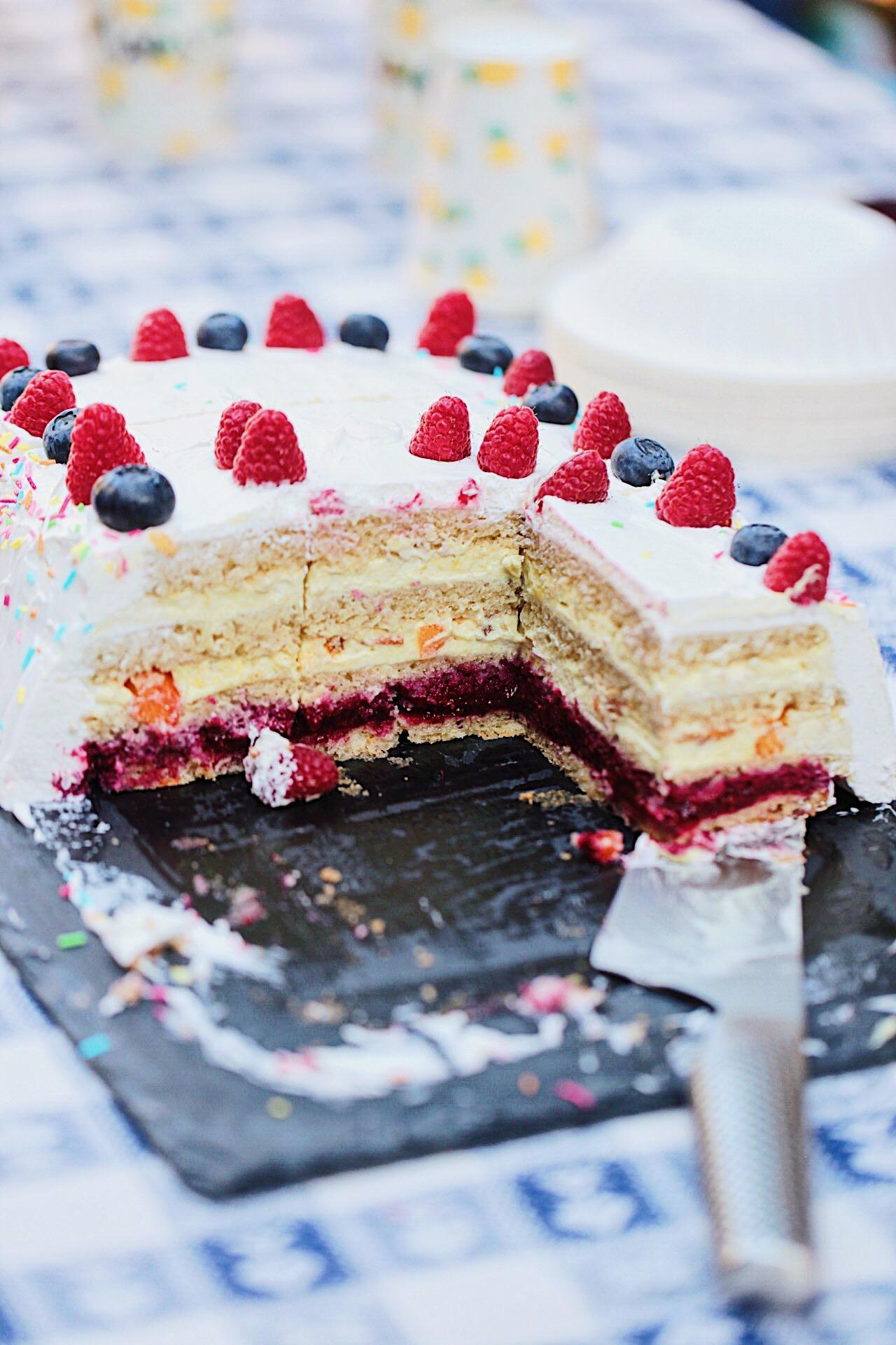 Torta di compleanno vegan chantilly e frutta fresca for Idee per torta di compleanno
