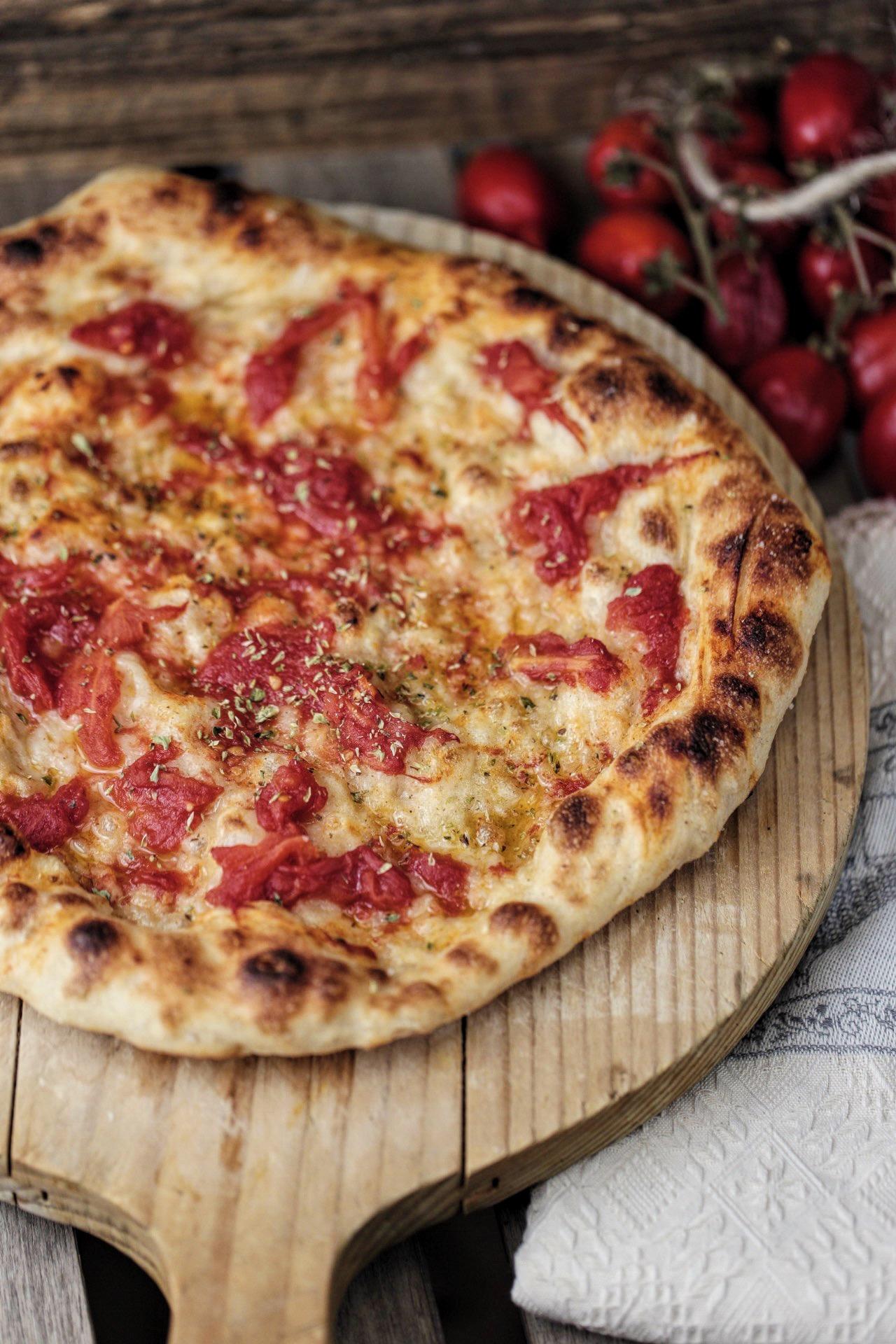 Pizza vegana in stile napoletana fatta in casa