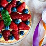 Crostata di frutta fresca e crema pasticcera vegan
