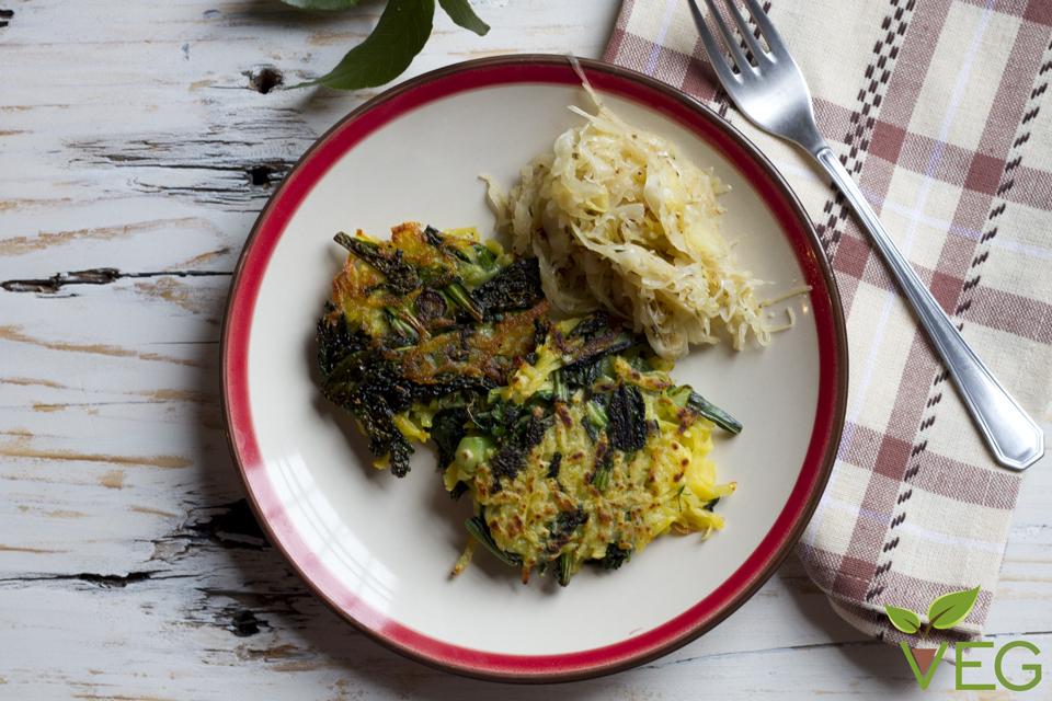 Rosti vegan con patate e cavolo nero
