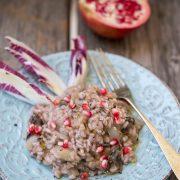 Ecco il nostro risotto al radicchio e melograno!