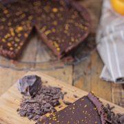 crostata al cioccolato e arancia vegan