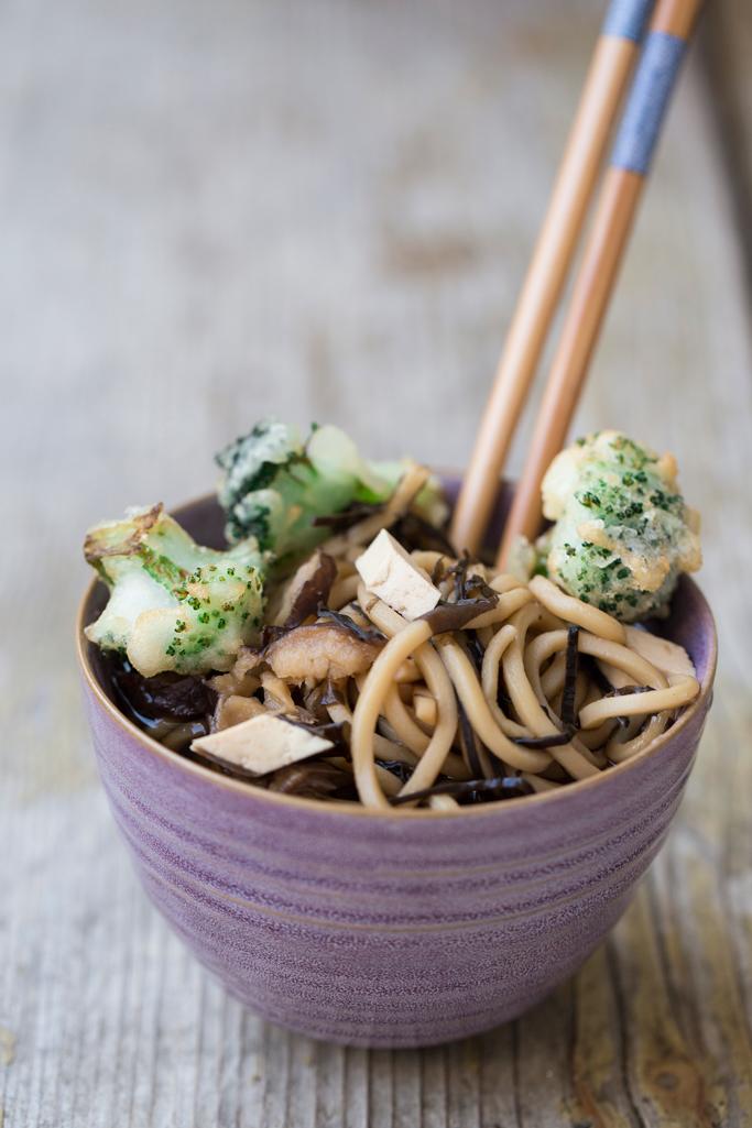 noodles di verdure e tempura