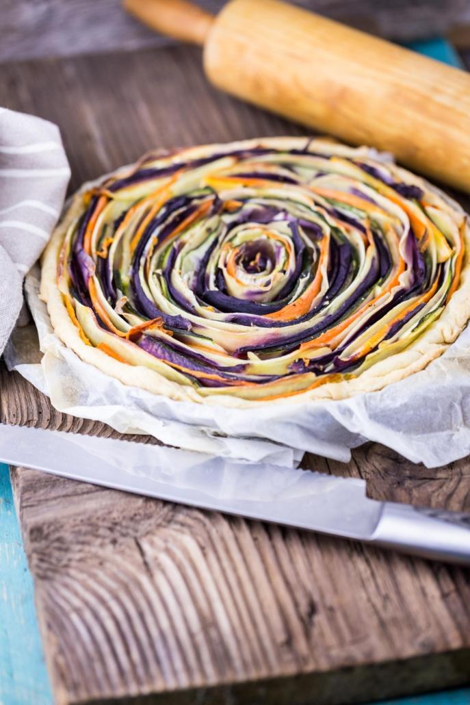 Torta fiore salata vegana